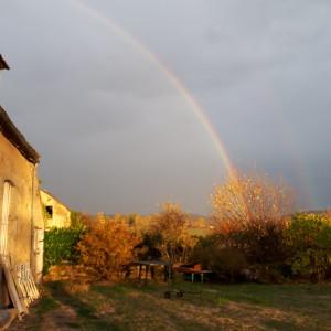 arc en ciel automne